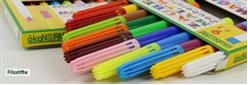 The wide variety of our felt-tip pens...