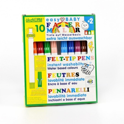 easy baby felt-tip pen, 5mm, easily washable - 10 colors