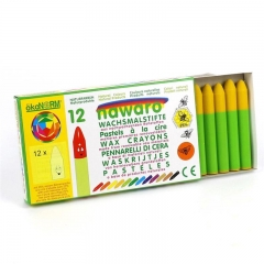 wax crayons nawaro, carton, 12 pieces - yellow
