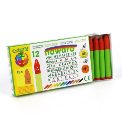 wax crayons nawaro, carton, 12 pieces - orange