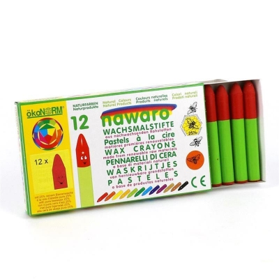 wax crayons nawaro, carton, 12 pieces - vermillion