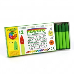 wax crayons nawaro, carton, 12 pieces - yellow-green