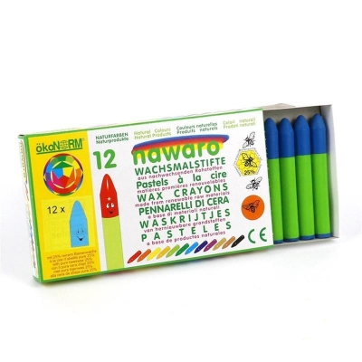 wax crayons nawaro, carton, 12 pieces - lightblue