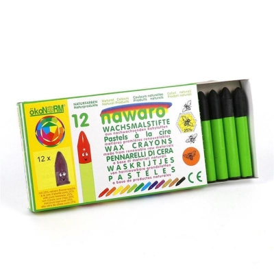 wax crayons nawaro, carton, 12 pieces - black