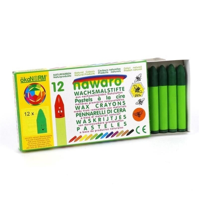 wax crayons nawaro, carton, 12 pieces - dark-green
