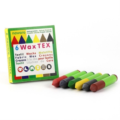 WAX Tex nawaro, textile wax crayons for ironing - 6 colors