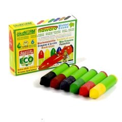 mini wax crayons Gnome nawaro, carton - 6 colors