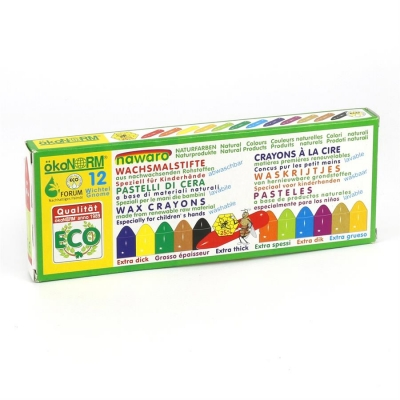 mini wax crayons Gnome nawaro, carton - 12 colors