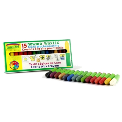 WAX Tex nawaro, textile wax crayons for ironing - 15 colors