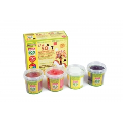 SOFT modelling clay nawaro, 4-color set B - orange,...