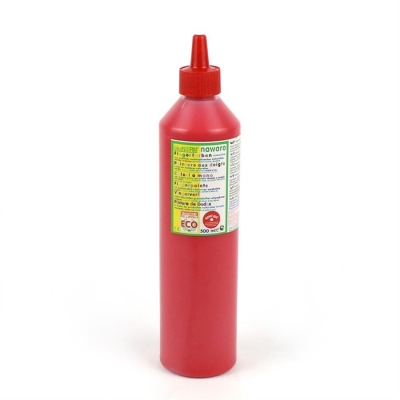 finger paint nawaro, 500ml bottle - red