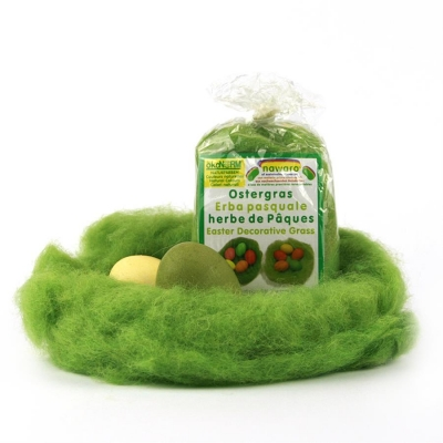 Easter grass nawaro, plant-dyed wool, 20g