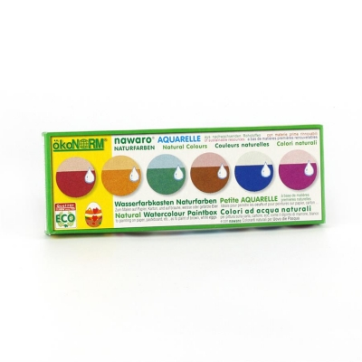 watercolor nawaro, carton, tablets Ø23mm - 6 colors