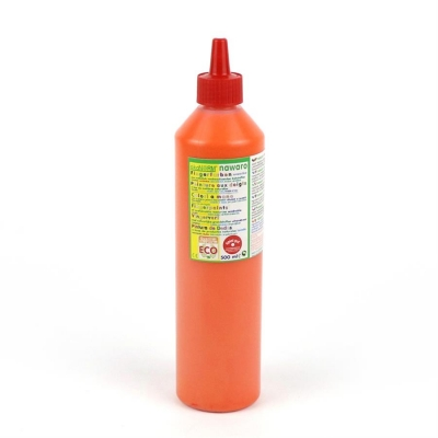 Fingerfarbe nawaro, Flasche 500ml - orange