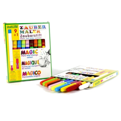 magic markers 9+1, 9 colors + 1 color-changing marker - 9 colors