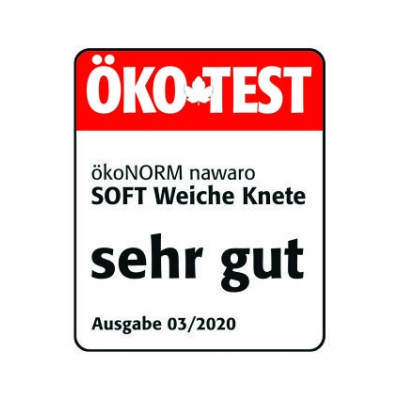 SOFT modelling clay nawaro, 4-color set A - red, yellow, green, blue -  ÖKO-TEST very good
