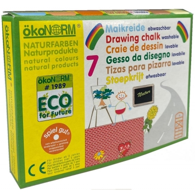 drawing chalk, carton  - 7 colors - ÖKO-TEST very good