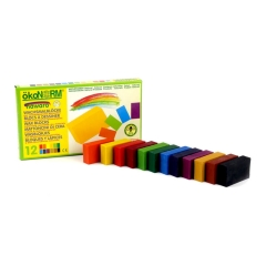 wax blocks nawaro, carton - 12 colors