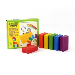 wax blocks nawaro unicorn, carton - 6 colors