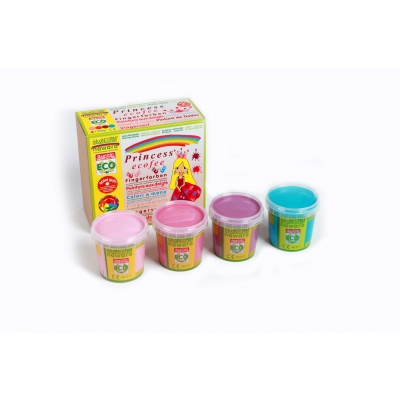 finger paints nawaro, 4-color set M Ecofee- rose, pink, violet, cyan