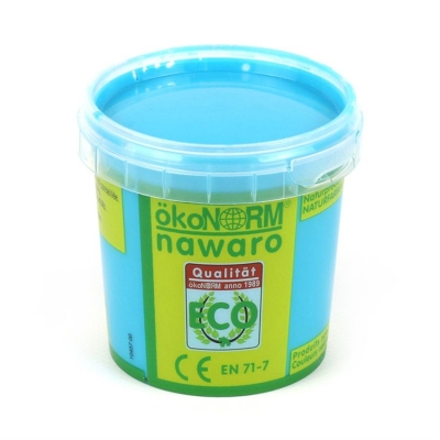 finger paint nawaro, 150g cup - cyan