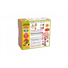 finger paints nawaro, 4-color set B - orange, brown,...