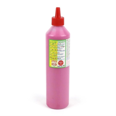 finger paint nawaro, 500ml bottle - pink