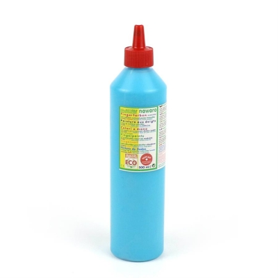 finger paint nawaro, 500ml bottle - cyan