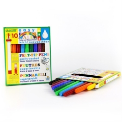 easy felt-tip pen, 4 mm, easily washable - 10 colors
